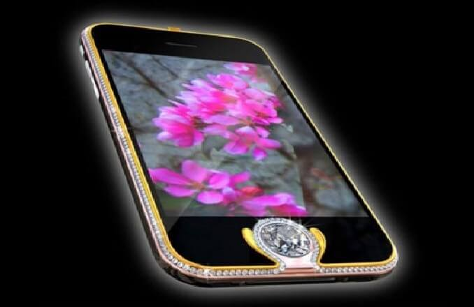 most expensive phone 4 - Most Expensive Phone with Gold and Diamond Buttons