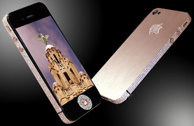 most expensive phone 5 - Most Expensive Phone with Gold and Diamond Buttons