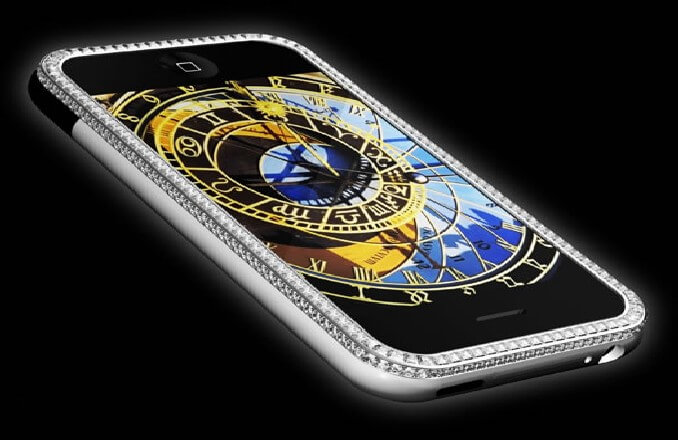 most expensive phone 6 - Most Expensive Phone with Gold and Diamond Buttons