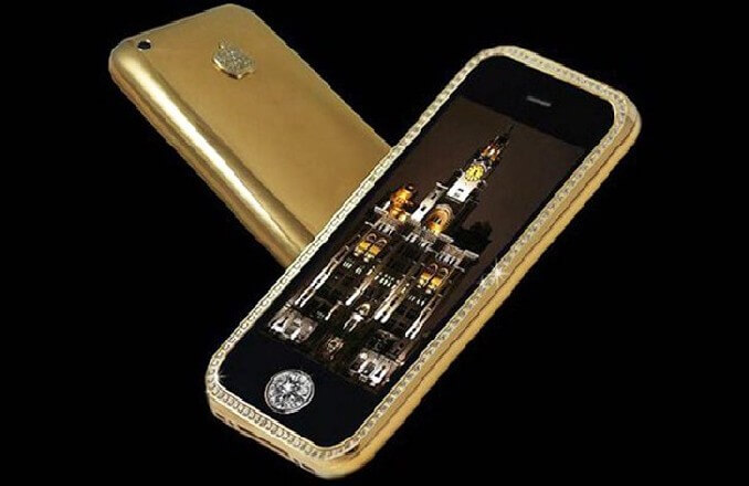 most expensive phone 7 - Most Expensive Phone with Gold and Diamond Buttons