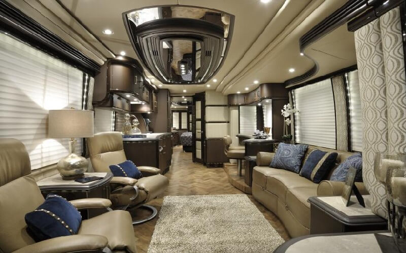 Most expensive rv in the world thelistli for Million dollar motor coaches