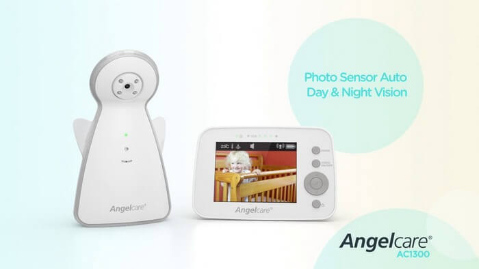 Angelcare AC1300 Video Movement and Sound Monitor - Best Baby Monitor Cameras