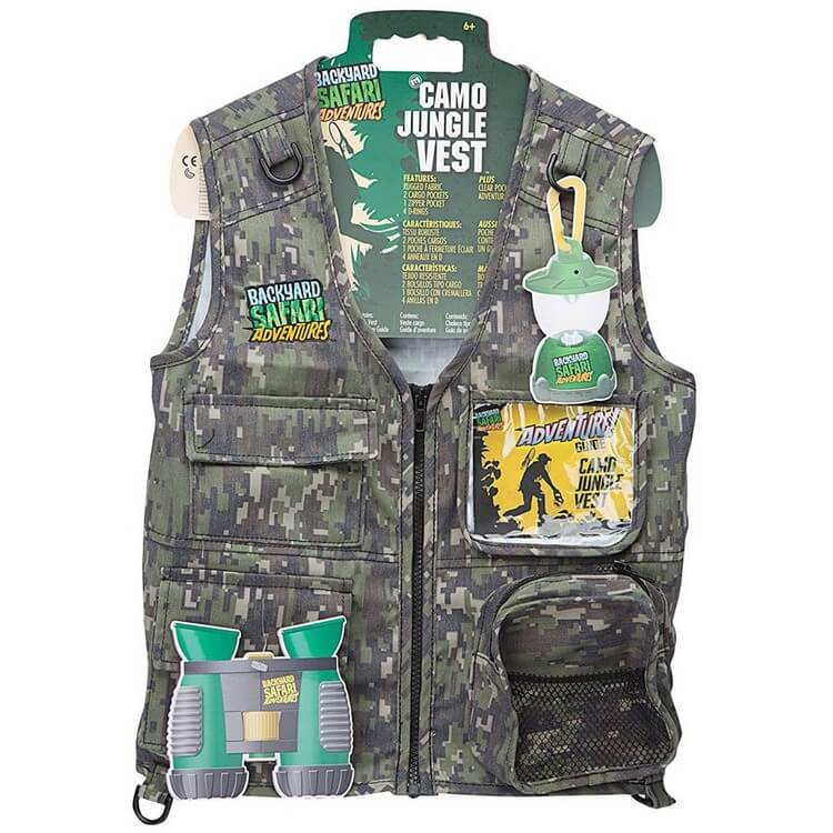 Cargo Vest by Backyard Safari - Best Toys for 5 Year Old Boy | Buy Favorite Toys for your Kids