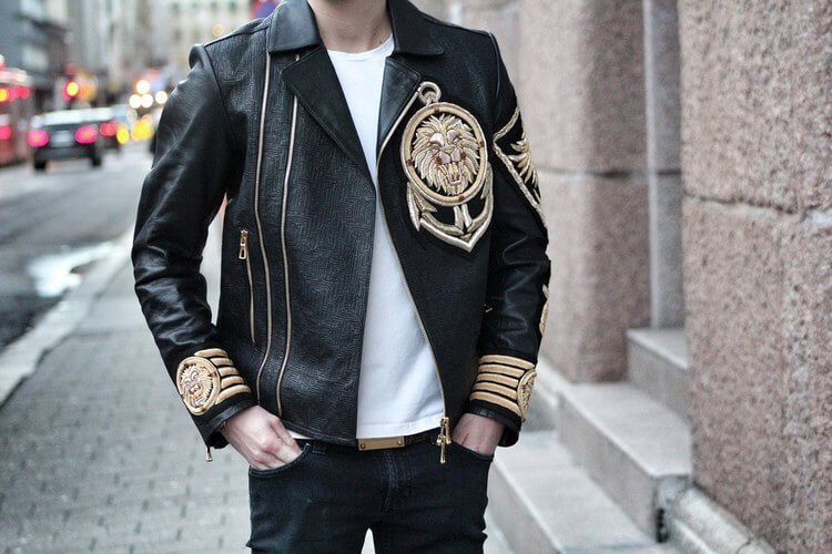 Balmain Embroidered Leather Jacket - Top Most Expensive Jackets in the World 2018: Expensive Jackets for Men