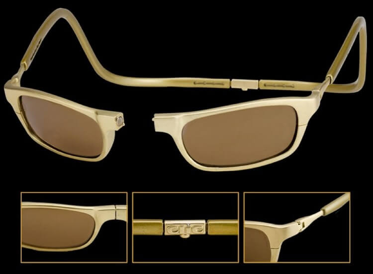 CliC Gold 18 Carat Gold Sports Sunglasses 75000 - Top 8 Most Expensive Glasses in the World