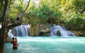 Kouang Si Falls Laos 300x188 - Best Places for Swimming in the World -- Natural Pools
