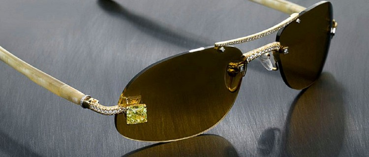 Luxuriator Canary Diamond Glasses 65000 - Top 8 Most Expensive Glasses in the World