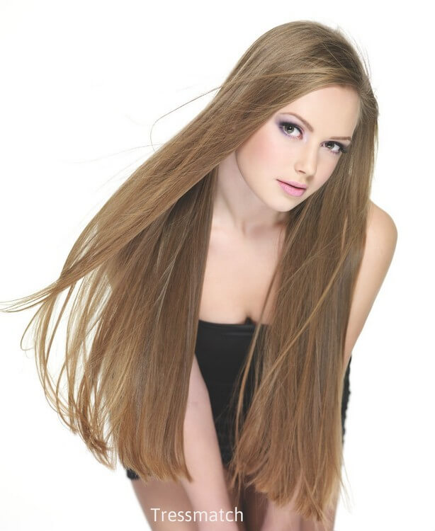 Tressmatch Human Hair Clip in - Most Expensive Hair Extensions in the World