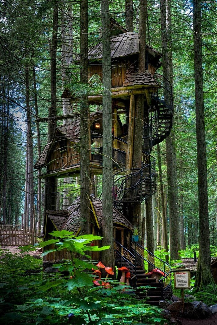 coolest treehouses 11 - Coolest Treehouse in the World for Kids -- Innovative Ideas