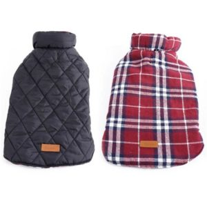 Kuoser Cozy Plaid Dog Jacket 300x300 - Best Dog Sweaters - Complete Guide for Large Dog Sweaters