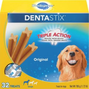 Pedigree Dentastix Large Original Dog Treats 298x300 - Top Rated Dog Treats - Best Dog Treats Reviews