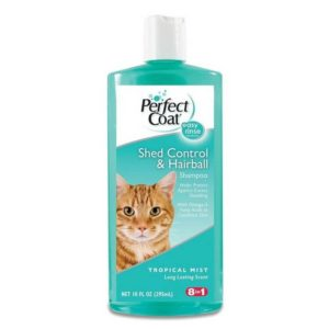 Perfect Coat Shed and Hairball Control Cat Shampoo 300x300 - Cat Shampoo for Dandruff - Full Guide for Best Cat Shampoos