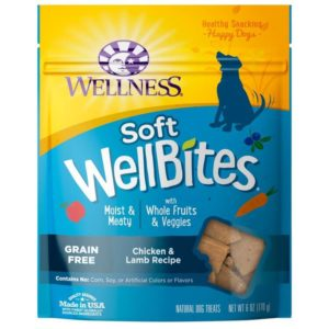 Wellness WellBites Soft Natural Dog Treats 300x300 - Top Rated Dog Treats - Best Dog Treats Reviews