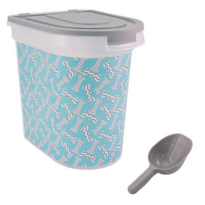 Bone design Food Container by Paw Prints 300x300 - Cute Cat Food Storage - Full Guide for Best Cat Food Containers