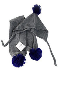 Small Gray Blue Pom Pom Dog Hat Scarf by Midlee 200x300 - Best Dog Hats - Full Guide for Best Dog Winter Hats